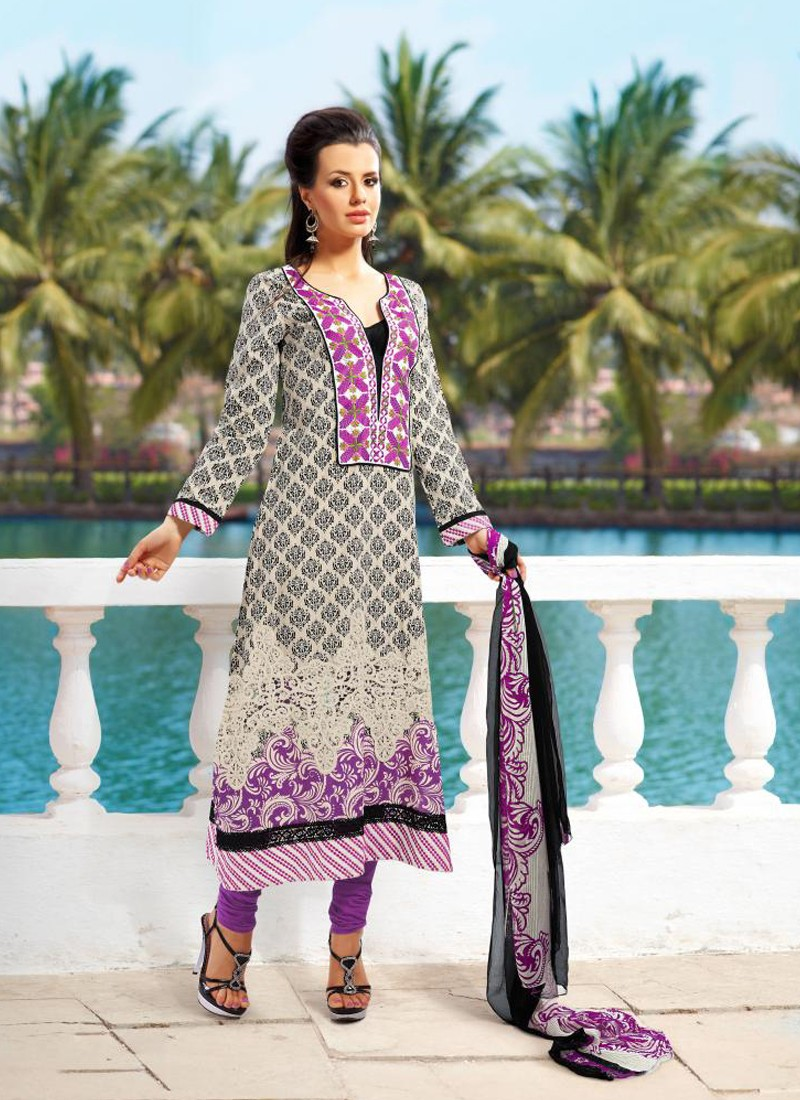 Purple Shaded Salwar Kameez