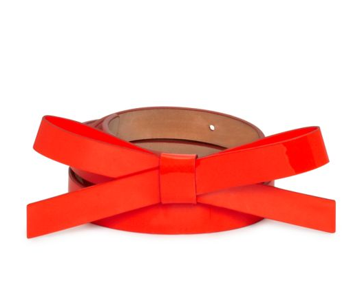 KATE SPADE THIN BOW BELT