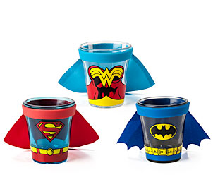 DC Comics Caped Shot Glasses