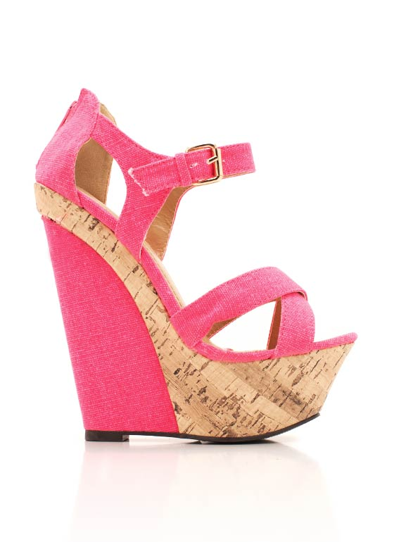 Strappy Cork Wedge