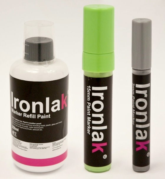 ironlak refill markers. Black Bedroom Furniture Sets. Home Design Ideas