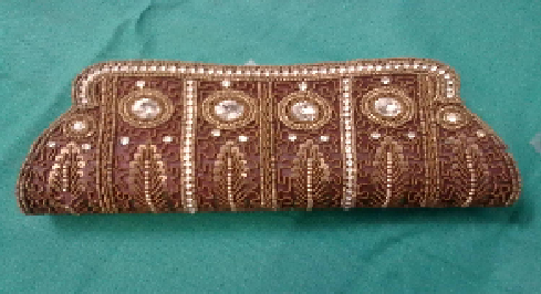 Awesome And Brilliant Zari Work Clutch